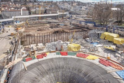 Stuttgart 21, construction of new underground station PFA1.1